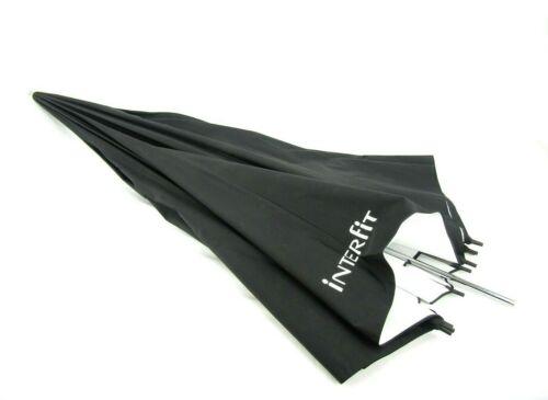"Interfit 60"" Black White Reflective 10 Panel Umbrella"