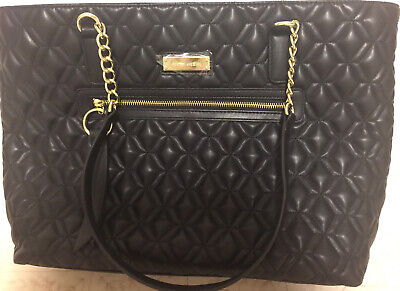 Anne Klein Large Black Faux LeatherTote Bag. NWOT