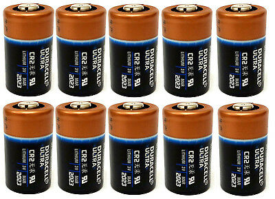 10 DURACELL CR2 3v lithium Photo battery - FRESH EXP 2024
