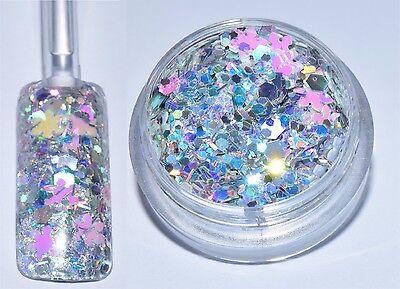 84,50€/100g Dose Glitter Glitzerpulver Weihnachten Xmas Schnee Mix Basteln NEU