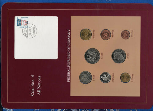 Coin sets of all nations Germany w/card 1989-1991 UNC  5,1 Mark 1990 100294