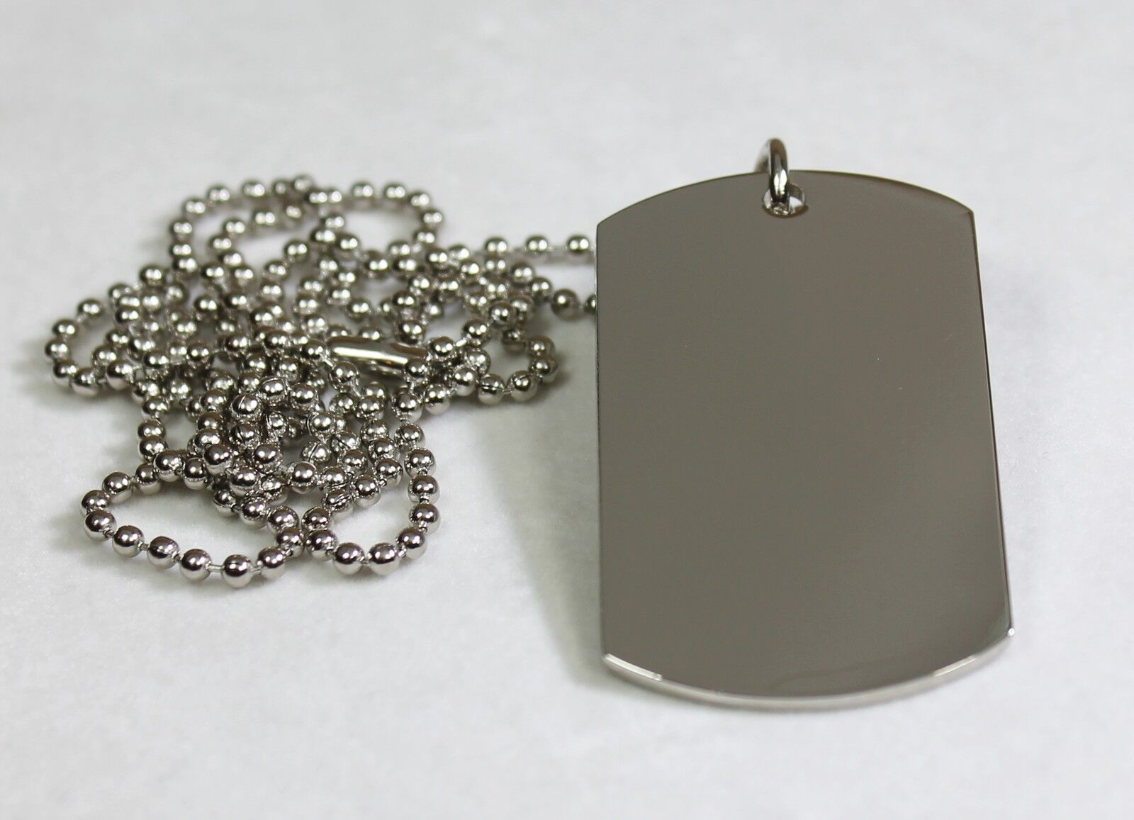 Stainless Steel Blank Dog Tag Pendant Necklace Ebay