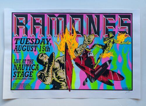 Ramones Original Rock Concert Poster from Cleveland, Ohio