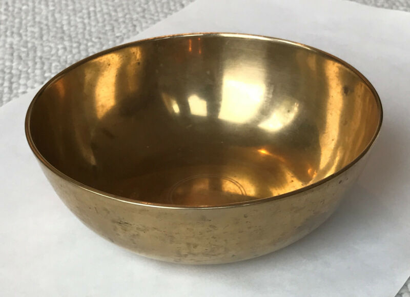 Vintage antique Korean 6½ inch traditional brass bowl