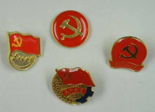 4 Pins For The Party Emblem of the China Communist Party