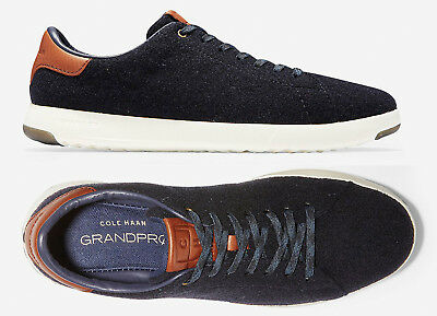 Cole Haan Mens Wool - Mens Cole Haan GrandPro Tennis Shoes Navy Wool Sneakers NEW