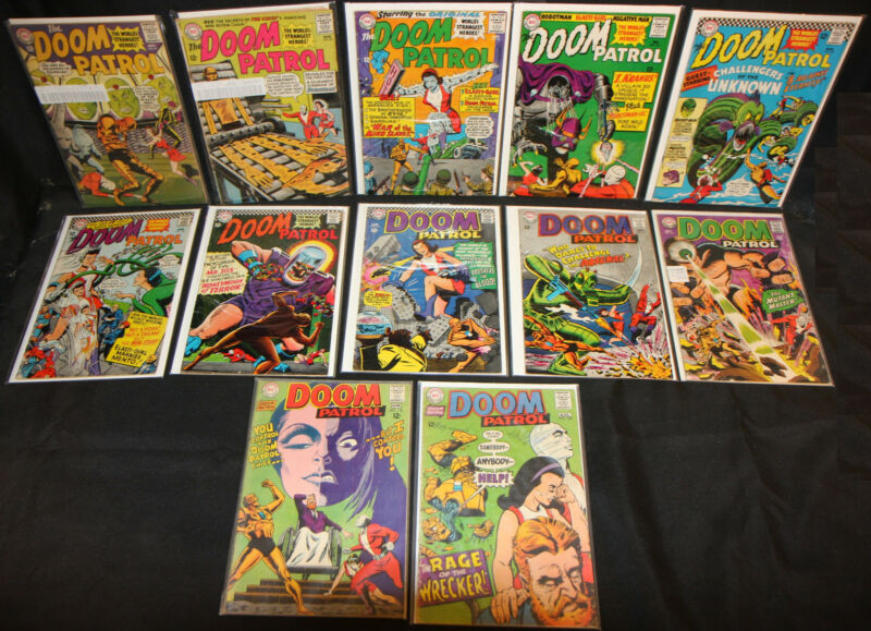 Doom Patrol LOT of 12 Issues in #91 to #120 - 1960