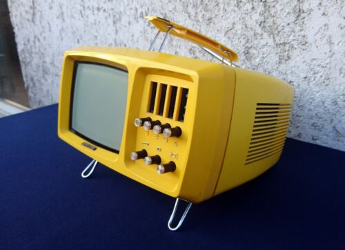 Videoton Mini-Vidi Space Age TV. Vintage Retro Mini TV Made in Hungary. 70s