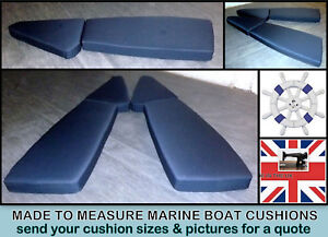 MADE TO MEASURE MARINE BOAT CUSHIONS WATERPROOF FABRIC + PALLET GARDEN FURNITURE