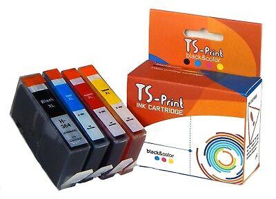 Cyan Smart Print (TS-Print Set Drucker Tinten-Patronen komp. HP 364-XL Photosmart 5524 5525 6500 )