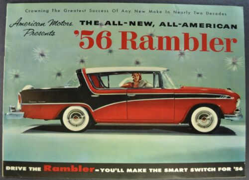 1956 Rambler Brochure Hardtop Sedan Wagon Nash AMC Excellent Original 56