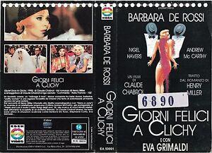 GIORNI-FELICI-A-CLICHY-1990-vhs-ex-noleggio-COMMEDIA-DRAMMATICA