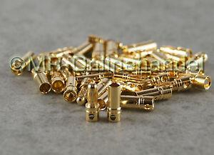 40x ( 20 Paar ) Stecker + Buchse Goldkontaktstecker Goldstecker 3,5mm Lipo Akku