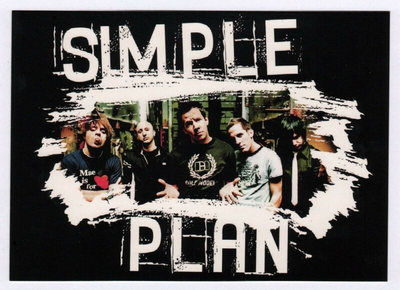 "6x Simple Plan ""4"" - Postcard (Lot of 6 identical Postcards)"