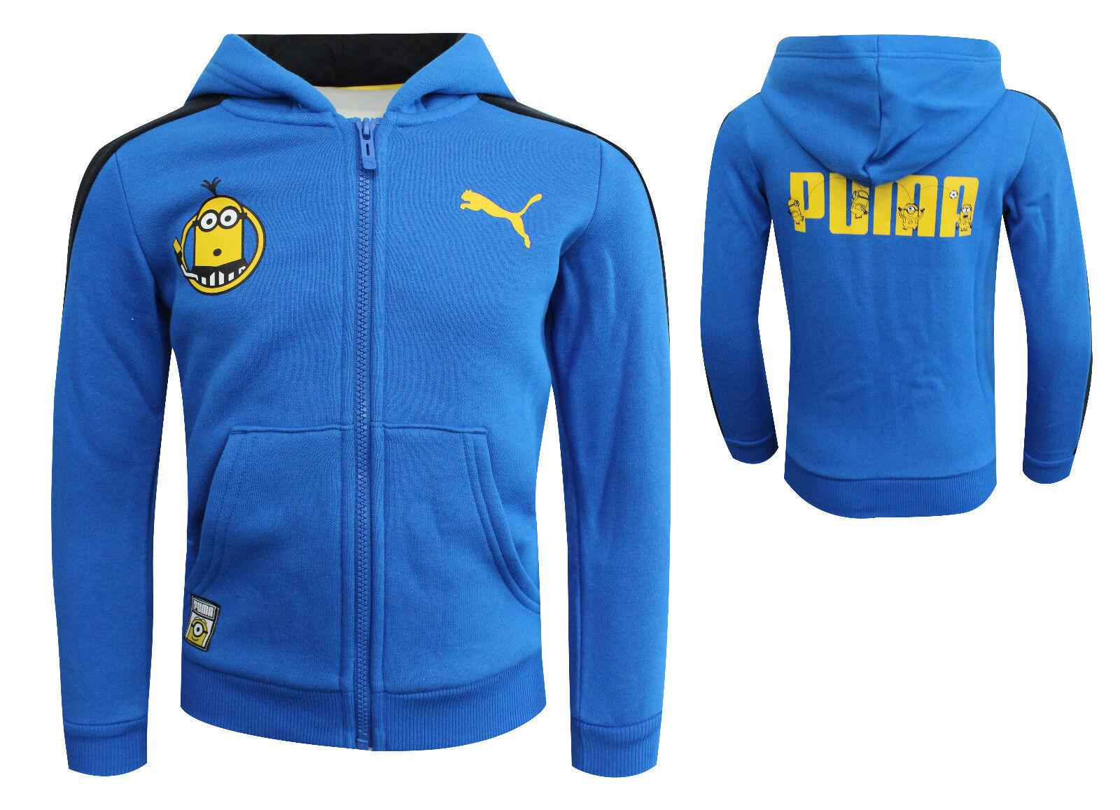 Detalles de Puma Minions NIÑOS CREMALLERA ARRIBA Chaqueta Sudadera con capucha de jóvenes Azul 592552 03 P5 ver título original