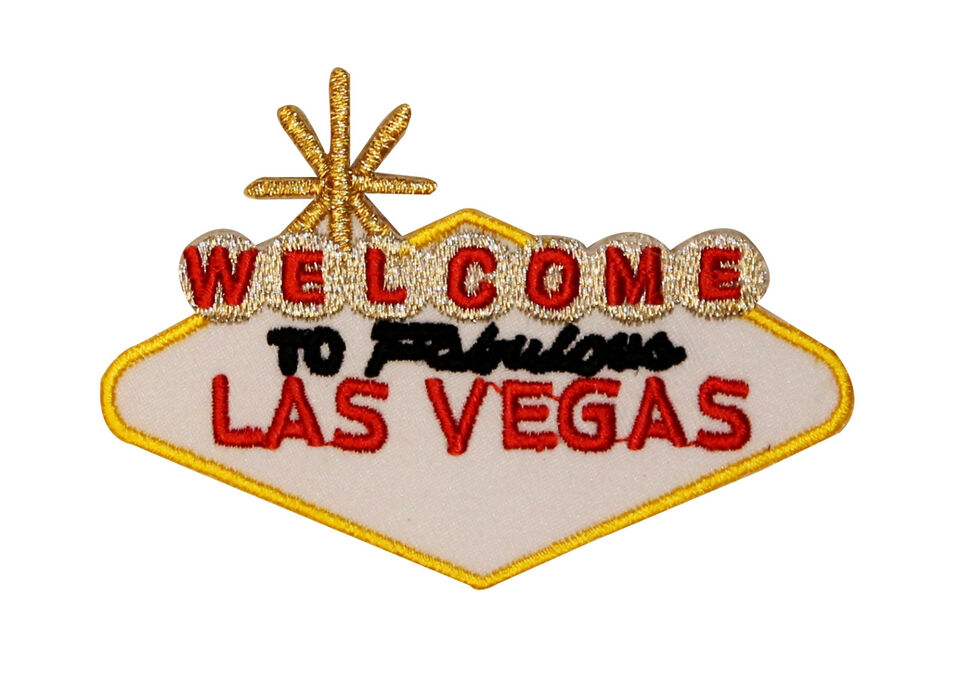 Welcome To Fabulous Las Vegas Travel Iron On Applique Badge Patch FD