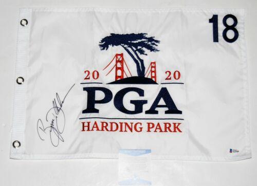 BRYSON DECHAMBEAU signed (2020 PGA CHAMPIONSHIP) PGA Golf pin flag W/COA BECKETT