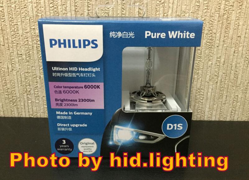 Genuine Philips 6000K Ultinon Flash White D1S XenStart HID XENON Bulb lamp light