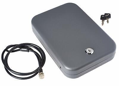SnapSafe Large Car Safe LockBox with Key Lock Portable Handgun Pistol Under Seat
