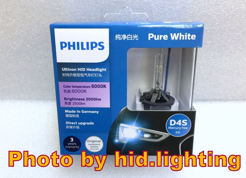 Genuine Philips 6000K Ultinon Flash White D4S XenStart HID XENON Bulb lamp light