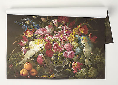 Kitchen Papers Vibrant Floral Birds Flowers Paper Lunch Dinner Party Placemats