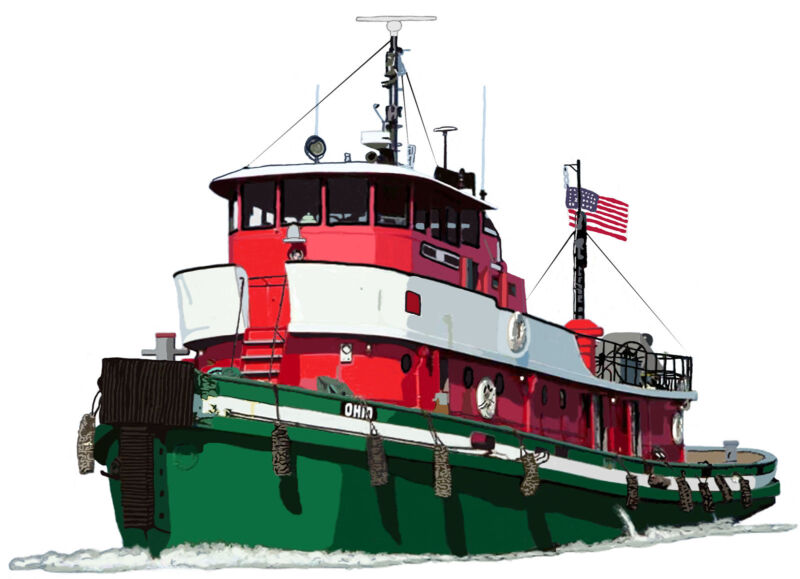 Great Lakes Tugboat Ohio canvas art print by Richard Browne