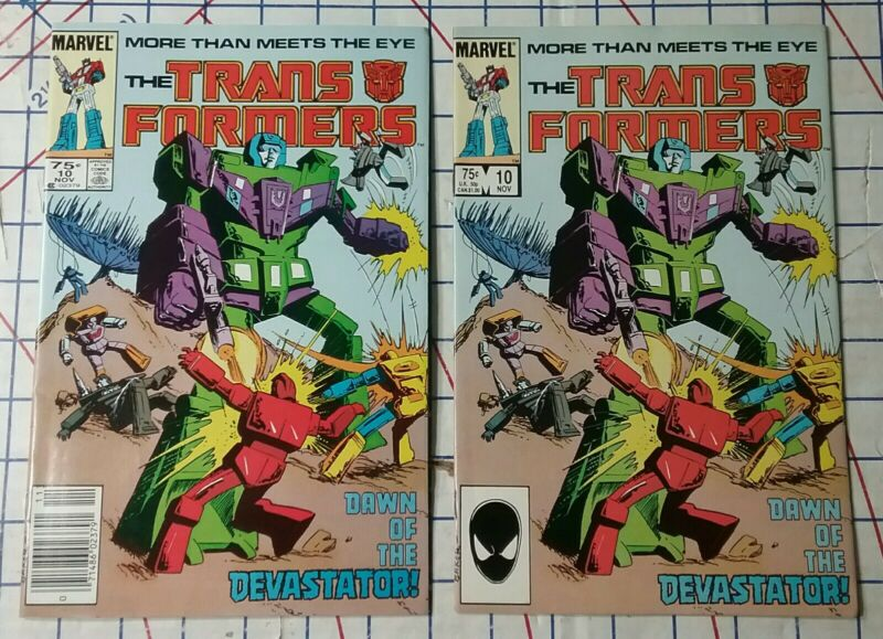 Marvel Transformers Issue # 10 VF/NM  Newsstand & Direct 1st App Constructicons