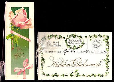 Glückwunsch Faltkarten, 1916 Geburtstag [1], 1931 Hochzeit [4]