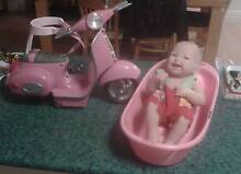 Doll with bath and scooter Rockingham Rockingham Area Preview