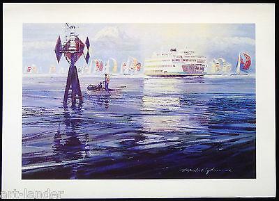 8 Seattle Ferry Sailboats on Elliott Bay ~ Fine Art Note Cards Marshall Johnson