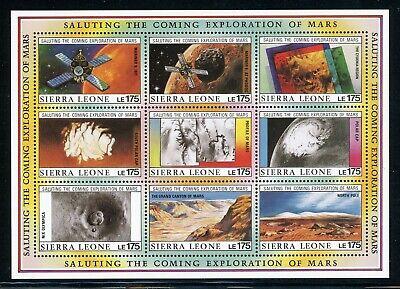 SIERRA LEONE MNH Selections: Scott #1168 Exploration of MARS SPACE CV$20+