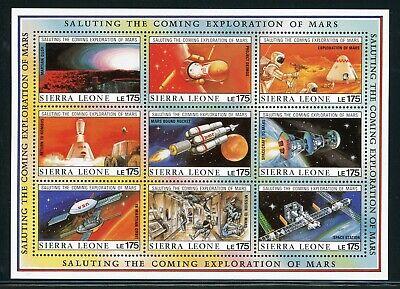 SIERRA LEONE MNH Selections: Scott #1170 Exploration of MARS SPACE CV$20+