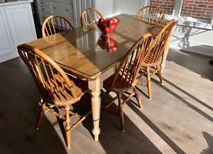 Rustic Dinning Table and 6 Chairs