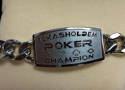 Texas Hold'Em Poker Champion Bracelet Great Tournament Prize WSOP FREE Shipping*