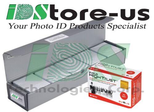 Evolis R3011 YMCKO Color Ribbon & 500 Blank White PVC Cards Bundle