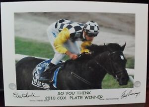 SO YOU THINK 2010 Cox Plate signed Print
