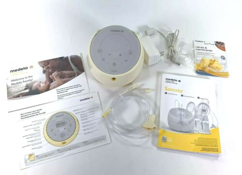 Medela-Sonata Smart Breast Pump Portable Double Electric Pump ONLY w Extras