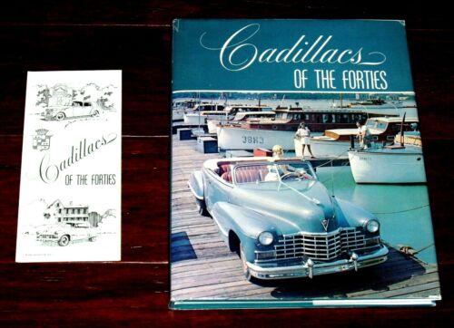 CADILLACS OF THE FORTIES by Roy Schneider - 1976 Hardbound 1st w DJ & Adv. Flyer
