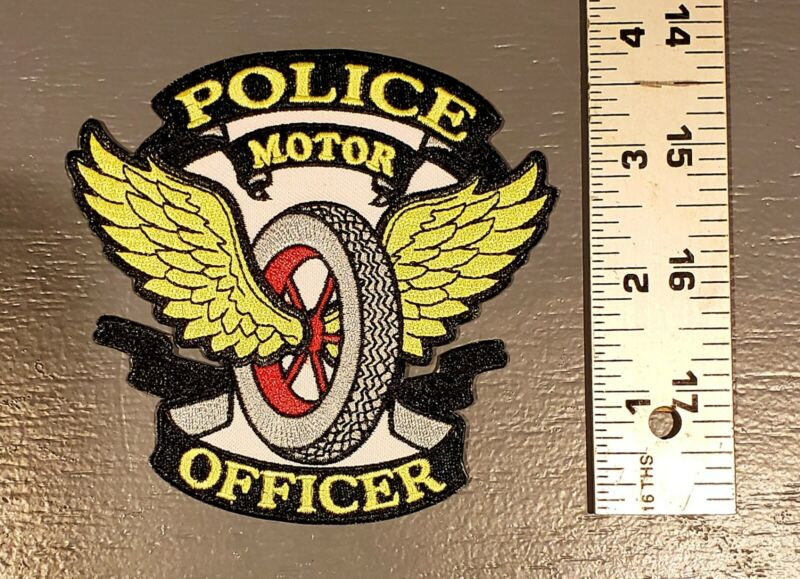 Police Motor Officer Patch Motorcycle Cop