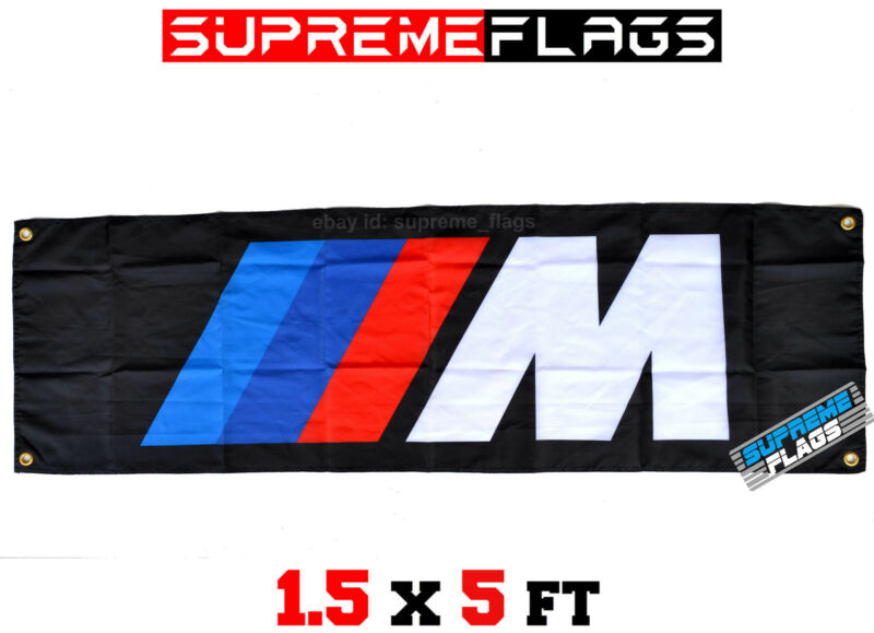 German Car Manufacturer Flag Banner Performance Shop Garage 18x58 in