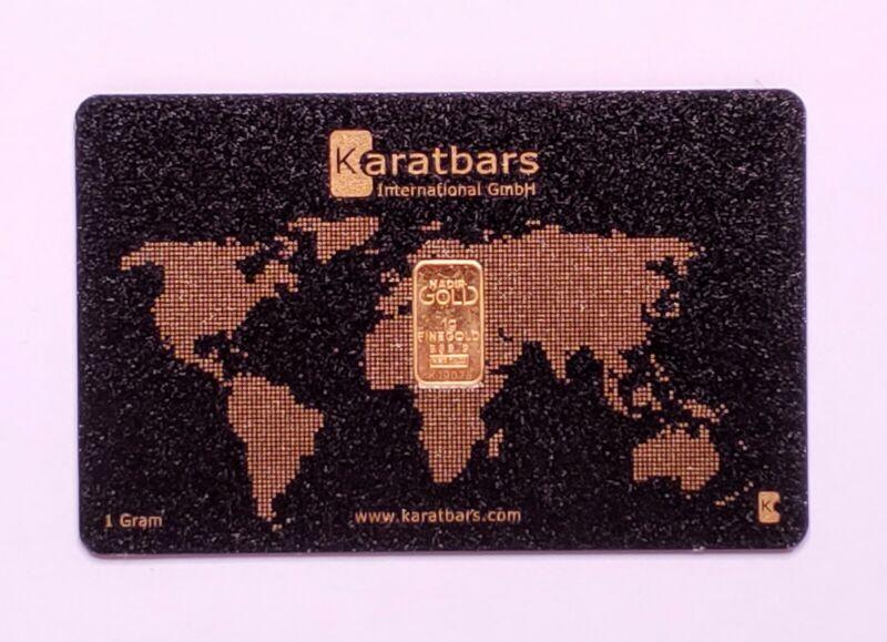Karatbars 1 Gram Gold Bar 999.9 Pure (Certified) LBMA Accredited