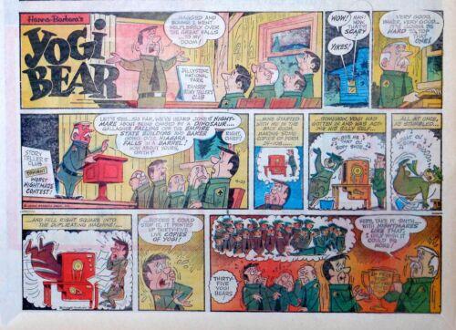 Yogi Bear - Hanna-Barbera TV - large half page Sunday comic - April 21, 1963