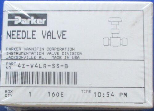 """Parker 1/4"""" Stainless Steel V4 Series Needle Valve 4Z-V4LR-SS-B Several Avai New"""