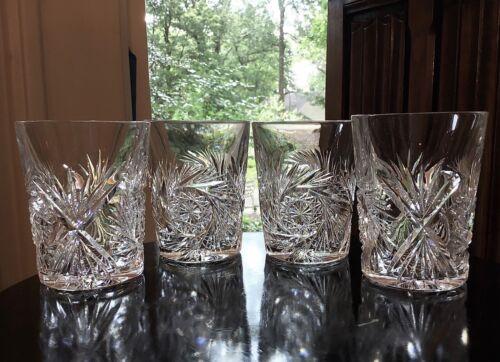 Buffalo Cut Glass Co.Jewel Pattern Whiskey Tumblers (4) c.1908-18