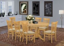 East West 9pc Vancouver Dining Set table w/ 8 padded ...