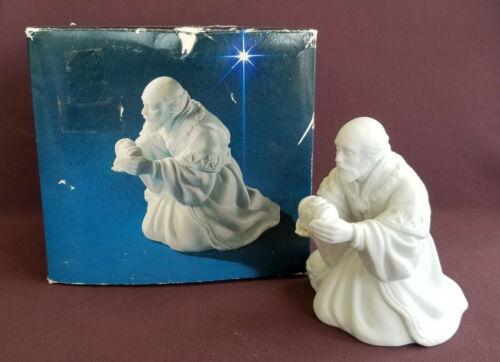 AVON Vintage CHRISTMAS NATIVITY White Porcelain Bisque THE MAGI ~ MELCHIOR 1982