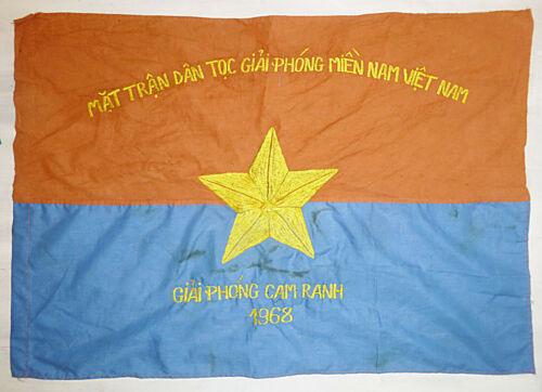 FLAG - Viet Cong - TET 1968 - VC, NLF - CAM RANH AIR BASE - Vietnam War - 9718