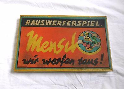 Rauswerferspiel (1963) - Mensch wir werfen raus - Altes Brettspiel / Würfelspiel