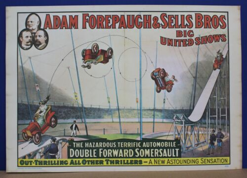 Adam Forepaugh & Sells Shows Poster Circus World Museum 1960 13 x 19 BOGO