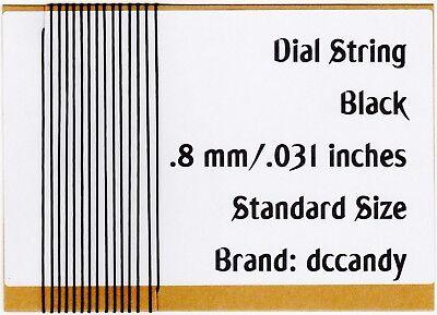 Radio Dial Cord 12 Ft BRAIDED Nylon String .8mm for Vintage Radio Tuner Black